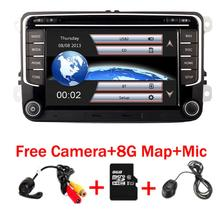 RNS 510 راديو السيارة لفولكس واجن جولف بولو باسات b6/b7 تيجوان أوكتافيا مع الجيل الثالث 3G لتحديد المواقع بلوتوث راديو USB SD عجلة القيادة التحكم