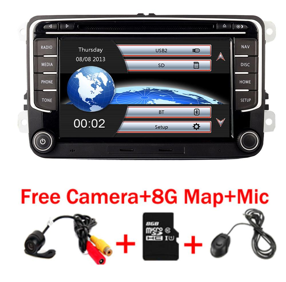 RNS <font><b>510</b></font> car radio for Volkswagen Golf Polo Passat b6/b7 Tiguan octavia with 3G GPS Bluetooth Radio <font><b>USB</b></font> SD Steering wheel Control image