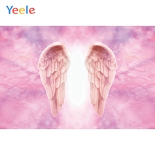 Pink Princess Girl Angel Wing Backdrop Newborn Baby Shower Kids Birthday Party Portrait Photography Background For Photo Studio pastel pink color princess baby girl photo shoot background printed flowers newborn photography props kids portrait backdrops