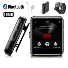 MP4 Player Bluetooth mit Clip 8GB/16GB Touch Screen Tragbare Verlustfreie Musik Player Metall Video Player mit FM Radio für Lauf