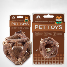 6.5cm Wood Wear Resistant Durable Chew Toys for Pet Cat Amusement Intelligent Playing Chew Scartch Pet Toys with Bell Gifts solid color wood wear resistant durable chew toys for pet cat amusement intelligent cat toys interactive pet supplies kitten