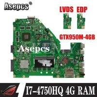 X550JX MB._ 4G/I7-4750HQ/AS (GTX950M-4GB) 마더 보드 For Asus X550JK X550J A550J FX50J W50J K550J X550JX 노트북 마더 보드