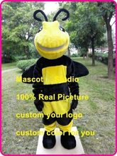 Horney Bee Mascot Costume Suit Cosplay Party Game Dress Outfit Halloween Adult Unisex Cosplay Hallowen Gifts(China)