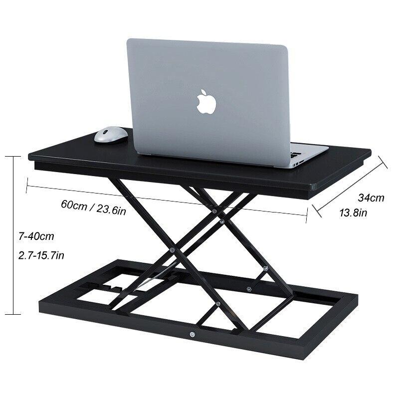 Стол с регулируемой высотой и подставкой для работы, стол для ноутбука, Легкий домашний офисный подъемник, подъемный стол - 6