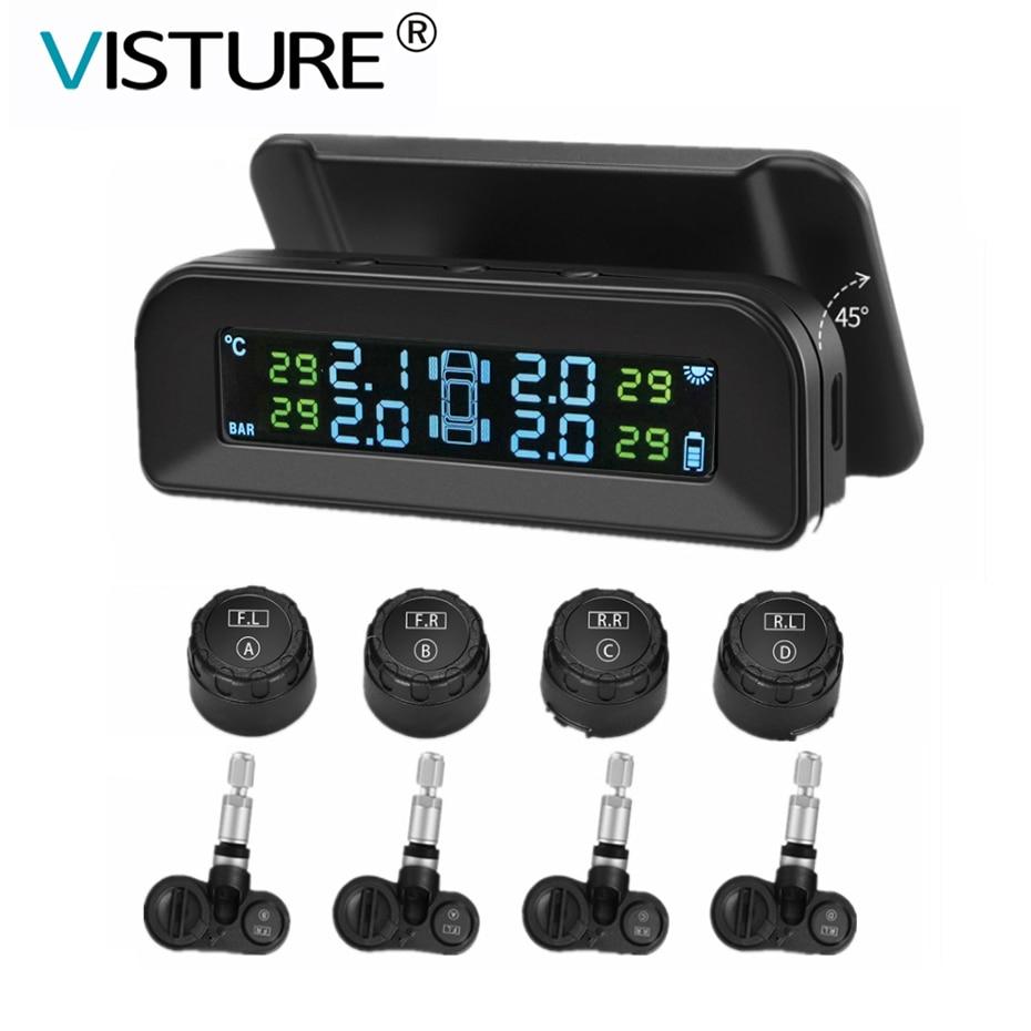 Visture Solar TPMS Car Tire Pressure Alarm Monitor System Tyre Pressure Monitor Warning External Internal Sensor Q01W Q01N Q02W
