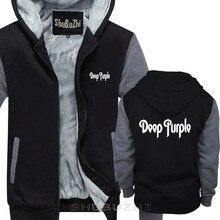 Темно фиолетовое теплое пальто новый логотип черная Толстая куртка Classic классическая рок твердая толстовка мужская брендовая Толстая Толстовка Зимняя sbz5685