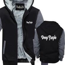 PROFONDO VIOLA cappotto caldo Nuovo Logo Nero di spessore giacca S 5XL Classico Hard Rock con cappuccio degli uomini di marca di spessore con cappuccio inverno sbz5685