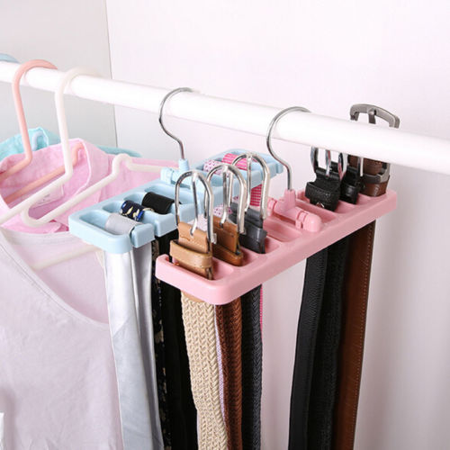 Mini Plastic Storage Rack Tie Belt Organizer Space Saver Rotating Scarf Ties Hanger Holder Hook Closet Organization Bra Belts