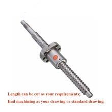 CNC ball screw assembly SFU2505 L1600mm with SFU2505 nut for ball screw +  BK20BF20 end machining 2pcs lot ball screw sfu2505 set 2pc ballscrew sfu2505 l500mm without end machined 2pc sfu2505 ball nut