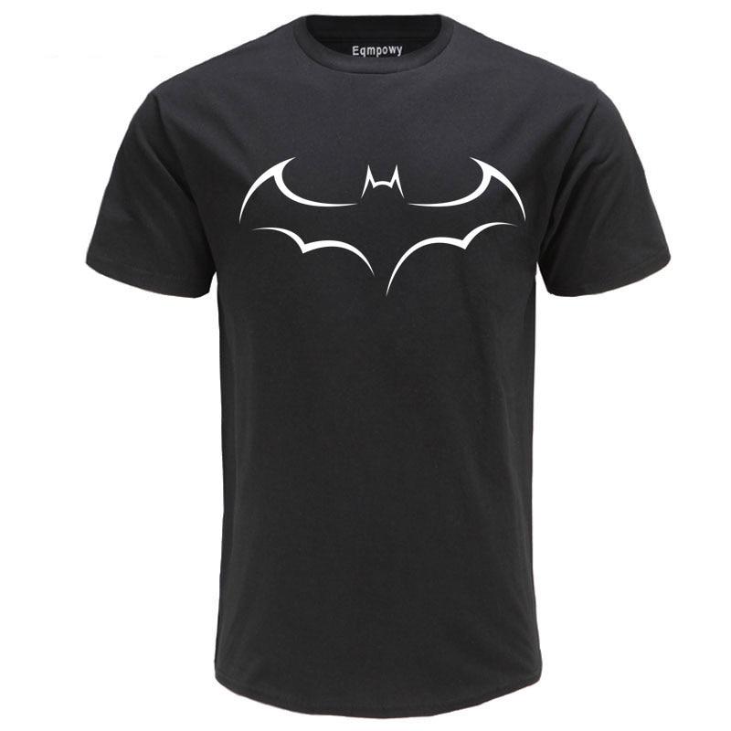 Men's Casual High Quality 100% Cotton Funny Batman Print T-Shirt Short Sleeve Men's T-Shirt Cool T-Shirt Men Funny T Shirts