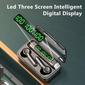 Image 4 - Écouteurs sans fil Bluetooth, oreillettes avec micro, affichage de puissance LED, casque découte pour sport, étanche, HiFi, stéréo, musique