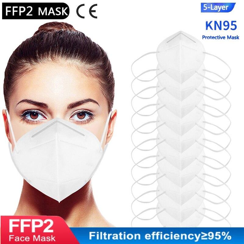 10/15/20/50 шт взрослых KN95 маски fpp2 маска для лица Mascarillas FFP2maske de filtro mascarilla ffp2 kn95 homologa mondkapje mascherin