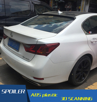 For Lexus GS250 Roof Spoiler Carbon Fiber Car  Rear Wing Primer Color Rear Spoiler For Lexus GS300 GS350 GS450 Roof Spoiler 2013