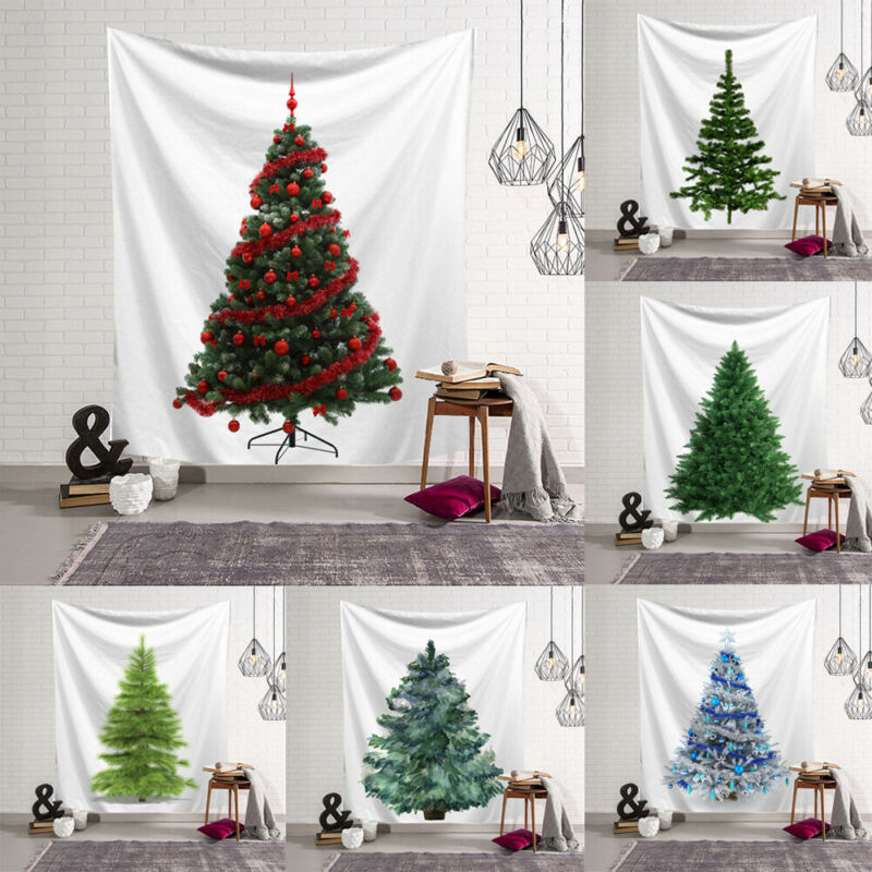 2020 New Christmas Trees Tapestry Fabric Blanket Yoga Wall Hanging Art Large Beach Towel Carpet Wall Rug Christmas Decor