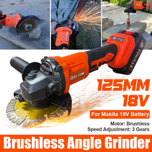 18V Brushless Cordless Impact Angle Grinder Variable Speed For Makita Battery DIY Power Tool Cutting Machine Polisher