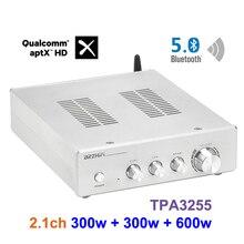 BRZHIFI ثنائي النواة TPA3255 بلوتوث حمى مكبر للصوت الطاقة 2.1 قناة بلوتوث 5.0 مكبر كهربائي مضخم الصوت 1200 واط