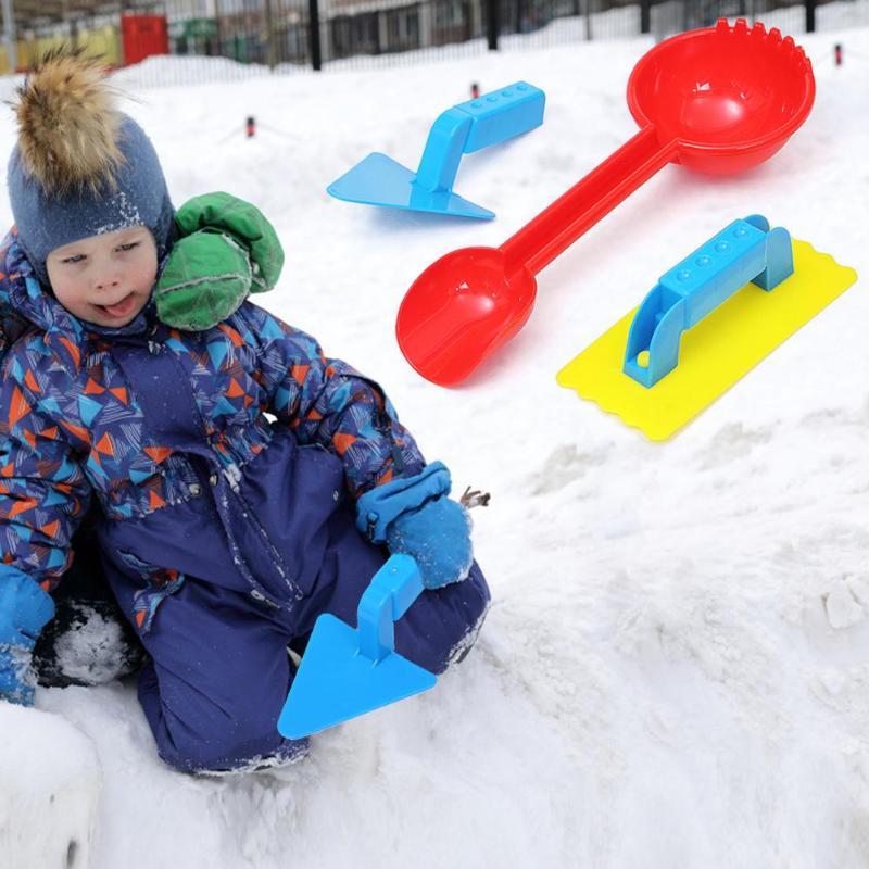 3pcs/Set Winter Kids Children Snow Shovel Toys Develop Children's Thinking Creativity Plastic Beach Sand Play Tools Kit
