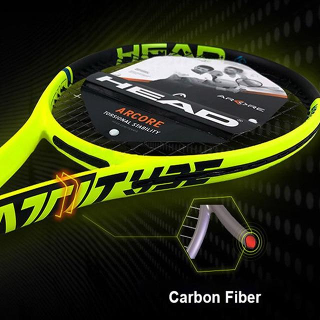 Professional Head Tennis Racket Carbon Composite Padel Rackets Shock Absorption Handle With String Original Bag For Men Women