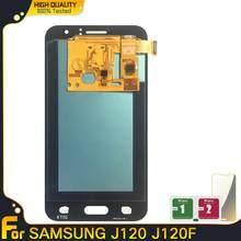 Оригинальный ЖК-дисплей на органических светодиодах для Samsung Galaxy J1 2016, J120, J120F, J120DS, J120G, J120M, сменный сенсорный ЖК-дисплей в сборе
