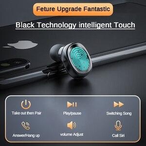 Image 4 - F10 TWS Bluetooth 5.0 kablosuz kulaklık dokunmatik kontrol kulakiçi IPX7 su geçirmez 9D Stereo müzik kulaklık 1200mAh güç bankası