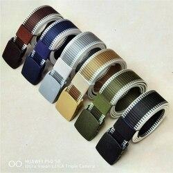 Cinturón de nailon militar ajustable para hombre y mujer, cinturón táctico de viaje con hebilla de plástico, para exteriores