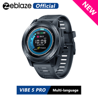 Zeblaze VIBE 5 PRO Color Touch Display Smartwatch Heart Rate Multi sports Tracking Smartphone With Notifications WR IP67 Watch