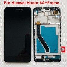 Originele Lcd Volledige Lcd scherm + Touch Screen Digitizer Vergadering Voor Huawei Honor 6A DLI L22 DLI L01 DLI TL20 DLI AL10 Met Frame