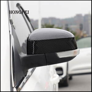 Image 3 - 2 pieces For Ford Focus MK3 MK2 2012 2017 Mirror Covers Caps RearView Mirror Case Cover Carbon Look Cover Car Styling Auto Parts