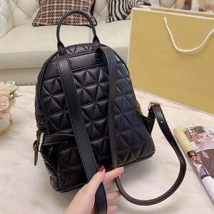 Кожаная сумка через плечо, однотонный рюкзак на молнии, вместительный деловой рюкзак для женщин, повседневный универсальный рюкзак 2020, Ново...