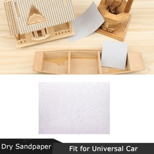 Auto-Parts Sandpaper for Universal 5pcs Paint Rectangular White Dry -Woodworking Hand-Polished