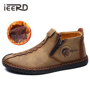Image 2 - Classic Comfortable Loafers Men Shoes Super Warm Men Winter Shoes Quality Split Leather Shoes Men Casual Moccasins Plus Size