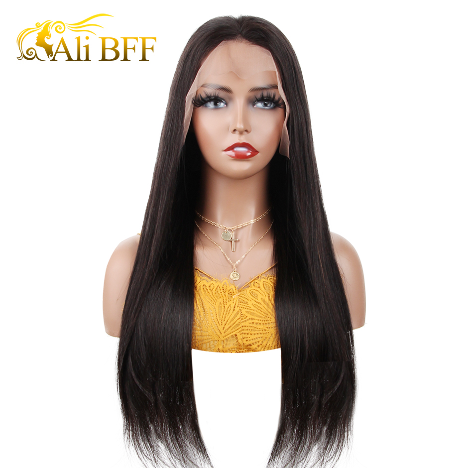 13x4 Straight Lace Front Human Hair Wigs Pre Plucked With Baby Hairs 8-26inch Low Ratio Indian Remy Human Hair Lace Wig 150%