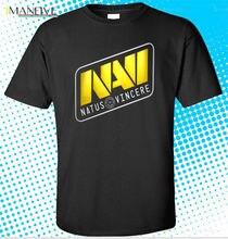 New DOTA 2 Tournament Team Natus Vincere Logo Men's Black T-Shirt Size   Cool Casual pride t shirt men Unisex New Fashion цена и фото