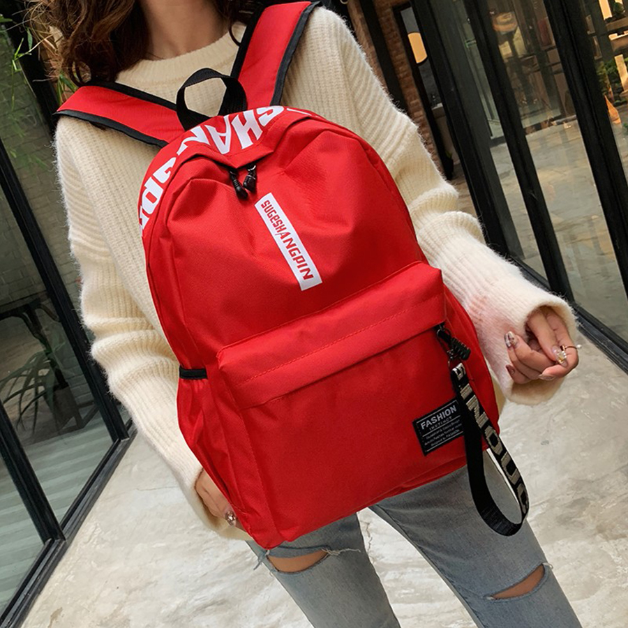 Brand Design Large Capacity Women Student Bag Student Backpack Fashion Computer Backpack Casual Girl Red College Style Back Pack