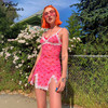 Lace Up Cherry Dot Dress 1
