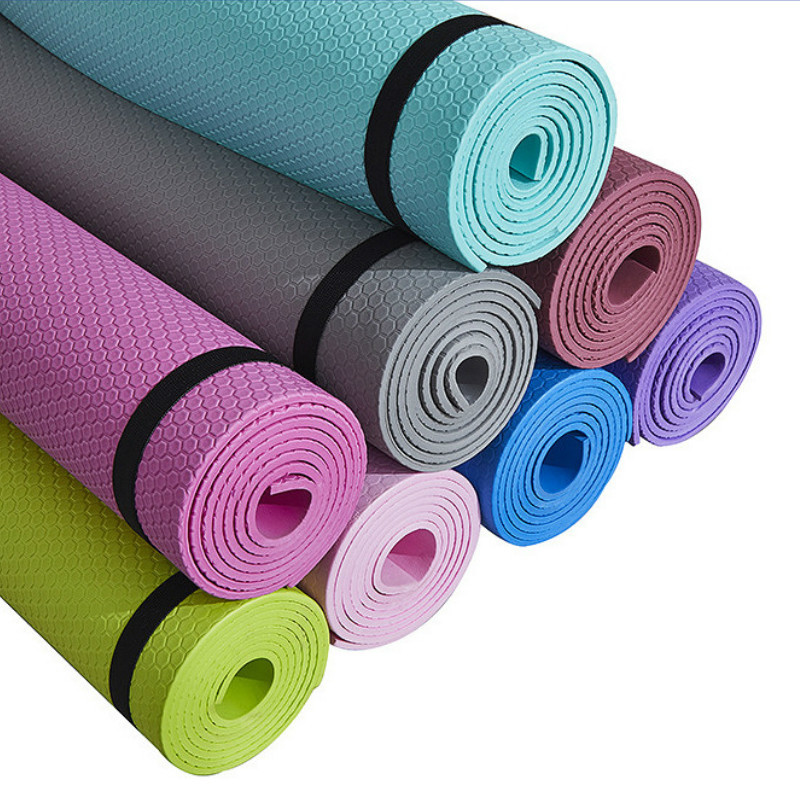 Covor de yoga covor de fitness sport antiderapant 3mm-6mm grosime EVA - Fitness și culturism - Fotografie 2