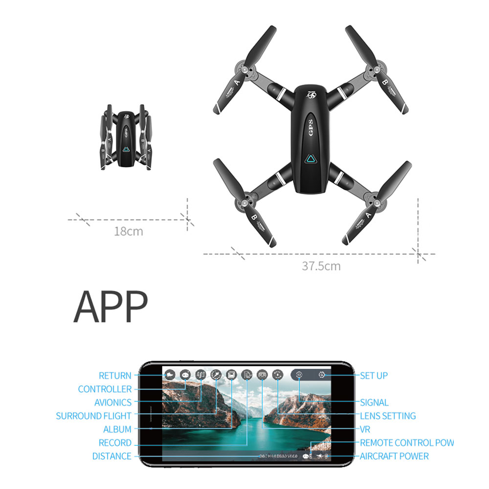 câmera hd ar pix zangão anti-shake quadrocopter