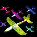 Браслет на руку из губчатого материала метания игрушечный самолет, светодиодный светильник вверх игрушечный самолет s для детей «Человек-п...