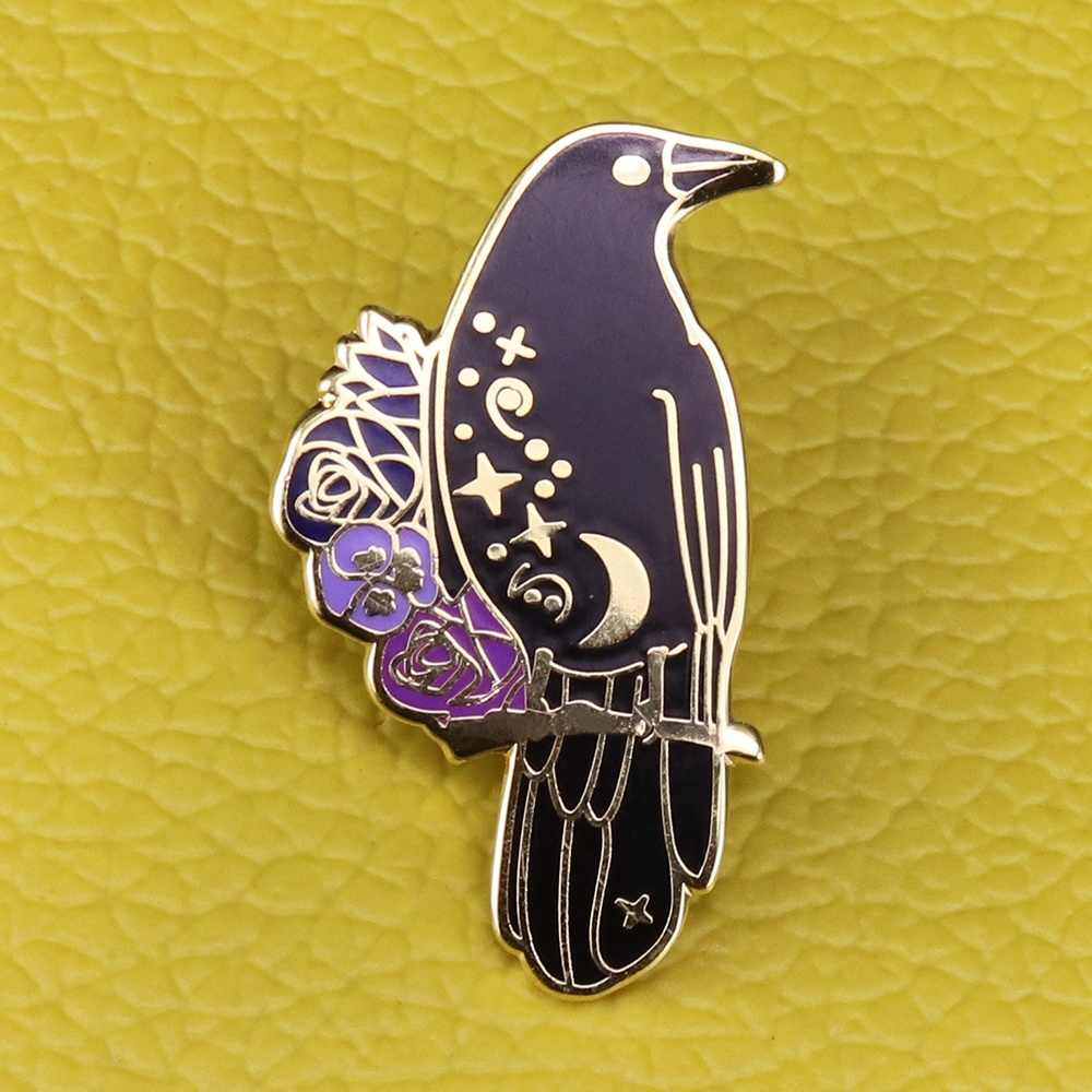 Raven Goth Witchy BookishหกCrows Pin