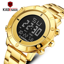 KADEMAN Mens Watches Top Luxury Brand Men Sports LED Digital Clock Male Full Steel Military Wrist Watch K9151 Relogio Masculino