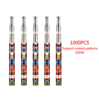 1000pcs COS kit CBD MOD Vape Pen with colourful cos preheat battery 450mAh 510 thread electronic cigarettes
