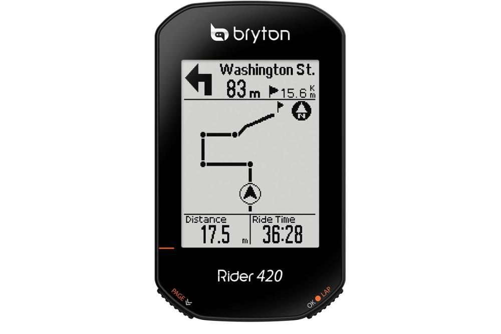 <font><b>Bryton</b></font> Rider 420E Wireless <font><b>GPS</b></font> GNSS / ANT+ BLE <font><b>Bike</b></font> Bicycle Cycling Computer image