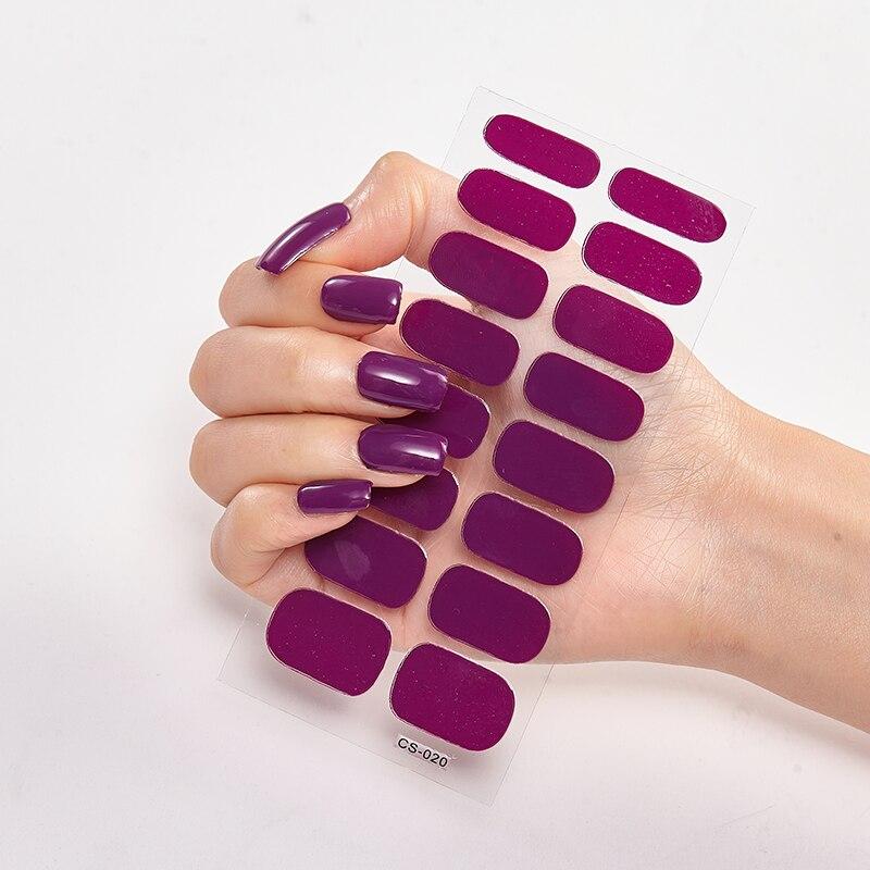 Наклейка для дизайна ногтей, однотонная самоклеящаяся наклейка для ногтей, Набор наклеек для ногтей, аксессуары для ногтей, полоски для ног...