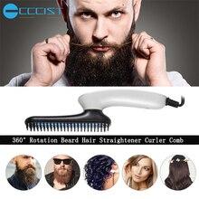 Multifunctional Hair Comb Brush Beard Straightener Hair Straighten Straightening Comb Hair Curler Quick Hair Styler Tool For Men