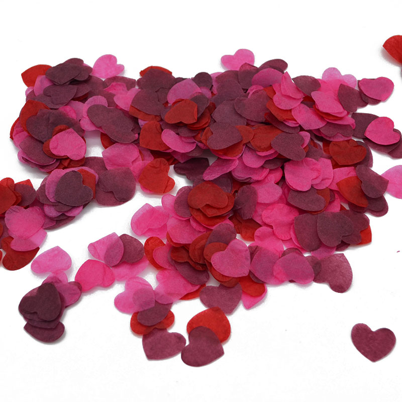 1000pcs/bag Multicolor Heart Confetti Wedding Decor Balloons Fill Paper Confetti Party Throwing Supplies Baby Shower Table Decor