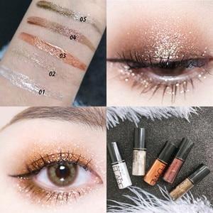 3D Holographic Eyeshadow Liquid Shiny Matte Glitter Pigment Shadow Waterproof Lasting Metallic Eye Makeup Palette Cosmetic TSLM1