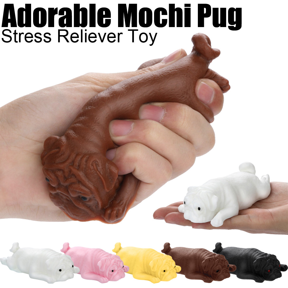 Mini Toy Antistress Ball Cute Mochi Pug Puppy Squeeze Rising Toys Collection Soft Sticky Stress Relief Toys Funny Gift L1217