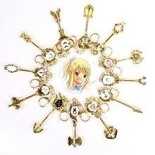 1/1 dos desenhos animados anime cauda de fadas zodíaco estrela espírito mágico convocação chave doze constellation chaveiro cosplay presente