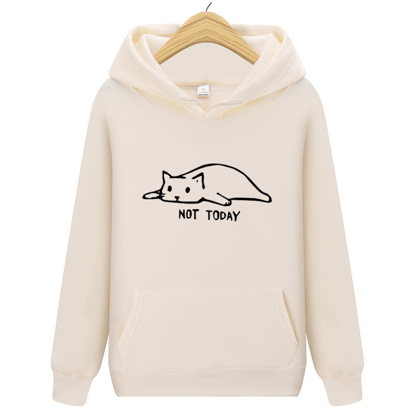 High Quality 2019 Men And Women Hipster Funny Lazy Cat Printed Men's Hooded Hoodies Brand Spring Autumn Men Sweatshirts