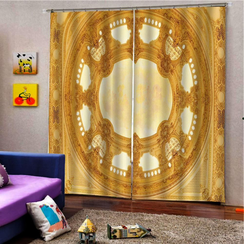 European Luxury Curtains Blackout Curtains For Living Room Bedroom Fashion Hotel KTV Office Window treatments